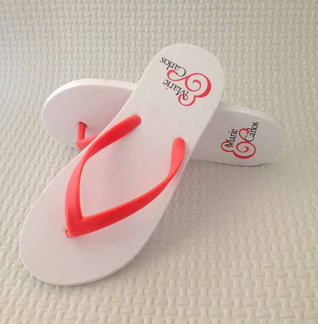Beach Wedding Flip Flops Custom Flip Flops Personalized Flip Flops